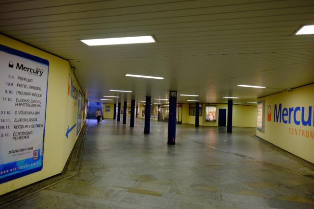 チェスケー・ブジェヨヴィツェの地下道