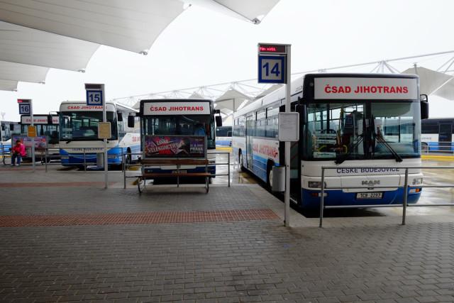 チェスケー・ブジェヨヴィツェのバスターミナル