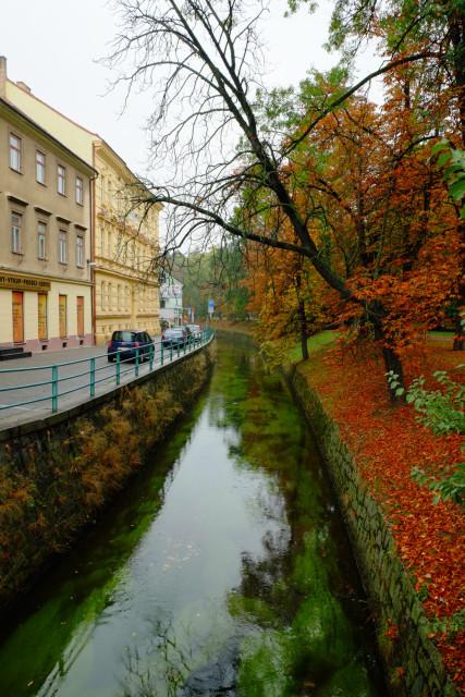 旧市街は堀にも囲まれている
