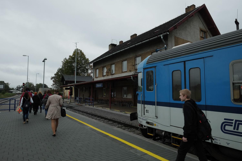 クリムジェで列車が停まってしまった。