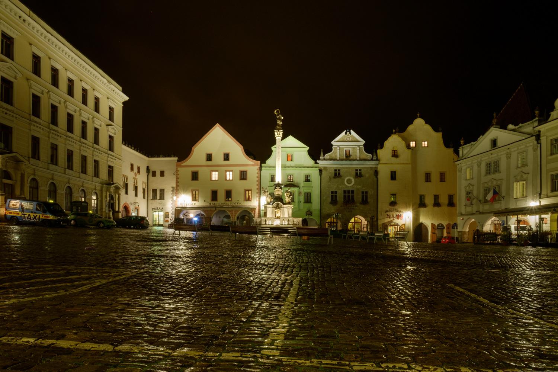 町の中心 スヴォルノスティ広場(Nám Svornosti)